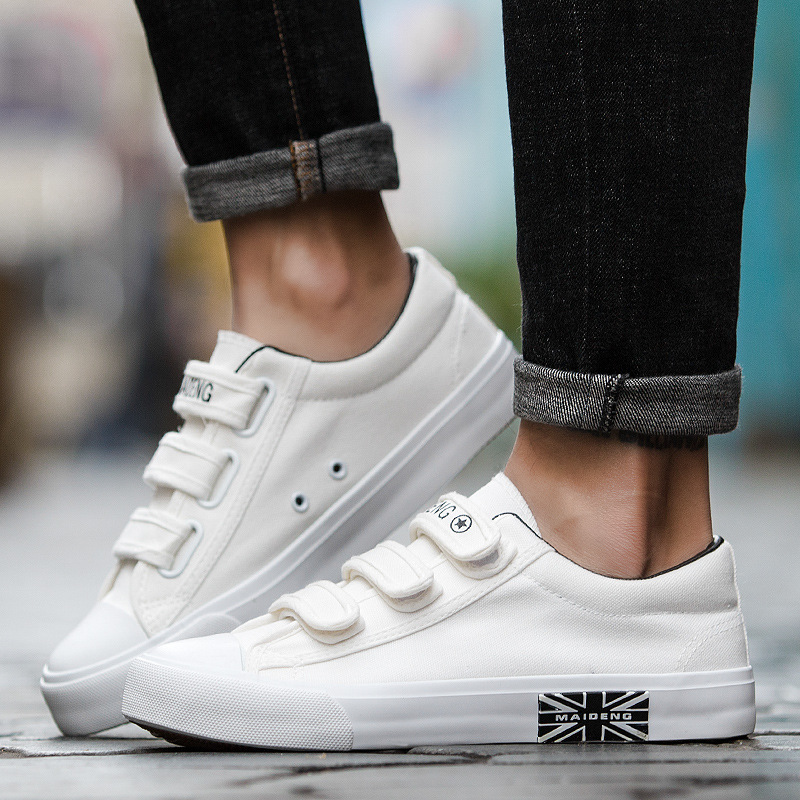Classic Men Shoes Sneakers Men Casual Shoes Hook loop Loafers High Quality Comfortable Hard wearing Canvas Shoes chaussure homme in Men 39 s Casual Shoes from Shoes