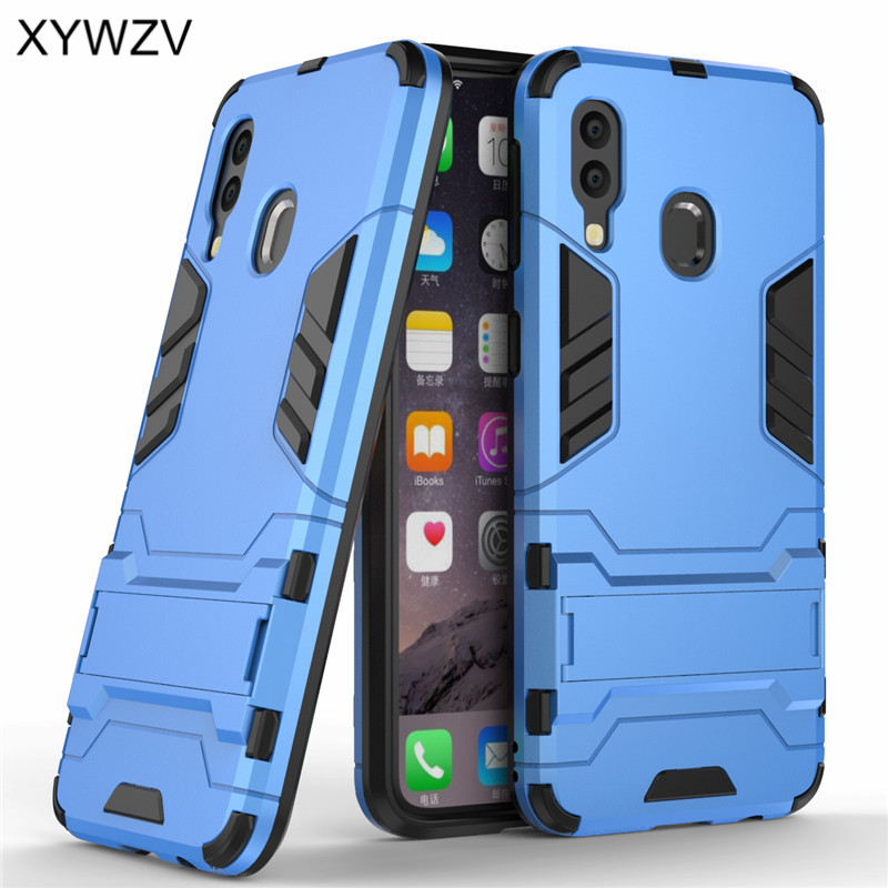 For Samsung Galaxy A40 Case Armor Soft Silicone Rubber Hard PC Phone Case For Samsung Galaxy A40 Cover For Samsung A40 Fundas in Fitted Cases from Cellphones Telecommunications