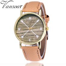 Vansvar Model Feminine Informal Cardinal Course WristWatch PU Leather-based Quarzt Watch Unisex Trend Compass Arrow Watch V26