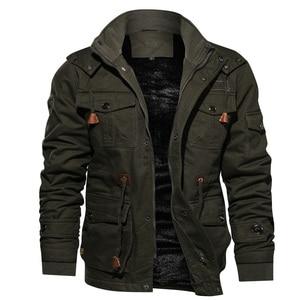 Image 1 - Heren Parka Jas Winter Fleece Multi pocket Casual Gewatteerde Jas