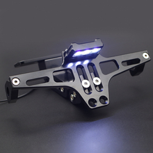 Motorcycle License Plate Holder Moto Rear Tidy Bracket With Led font b Lamp b font For
