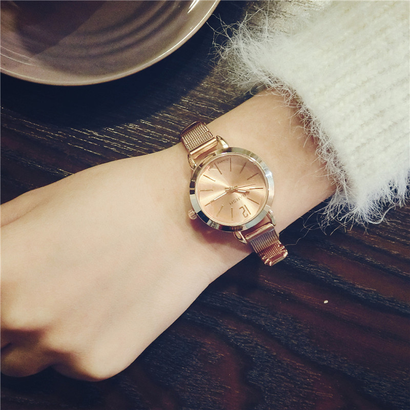 Luxury elegant women gold watches stainless steel women's fashion bracelet watch 2018 ladies design simple quartz wristwatches gold & silver women luxury watches stainless steel dress quartz elegant watch fashion wristwatches ladies relogios top quality