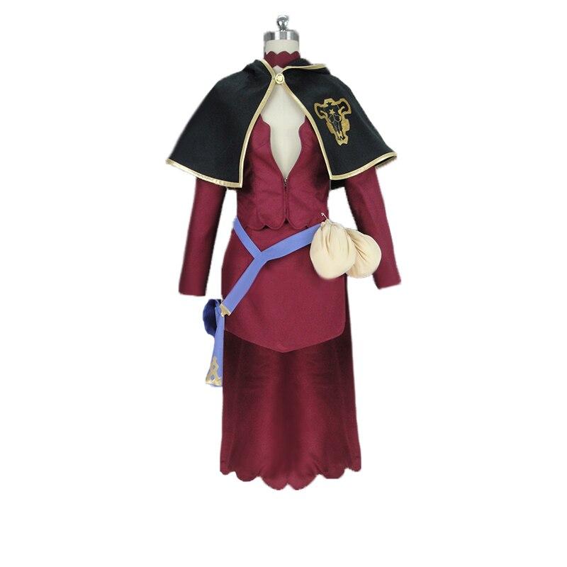 黒クローバー Vannesa Enoteca コスプレ衣装帽子と手袋靴下のためにカスタムメイドクリスマスハロウィン