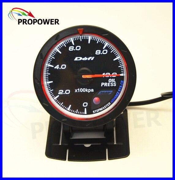 "2.5"" 60MM DF Advance CR Gauge Meter Oil Pressure Gauge Black Face With Pressure Sensor/AUTO GAUGE"