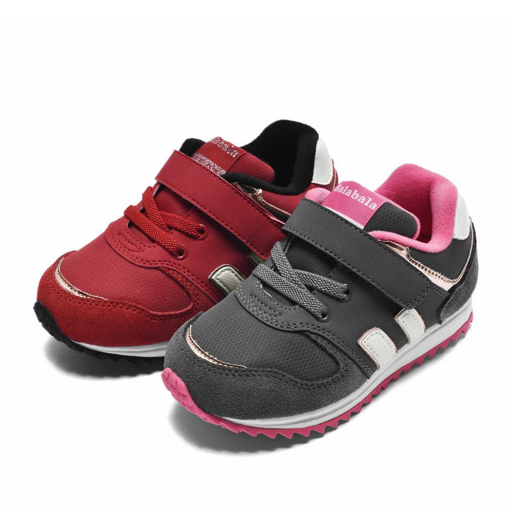 Balabala Çocuk Sonbahar Kış moda ayakkabılar Kız Rahat Nefes Ayakkabı Bebek Çocuk Artı Kadife Rahat kaymaz Kız