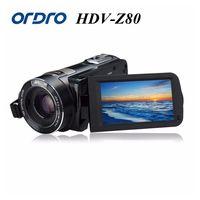 Ordro цифрового видео Камера hdv z80 1080 P Портативный Full HD 10x Оптический зум 3.0 Сенсорный экран видеокамеры с Дистанционное управление