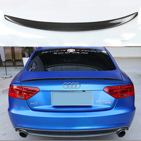 For Audi A5 Carbon Fiber Rear Spoiler Wing 4 Door Sedan 2009 2016 S5 Style Trunk Lid