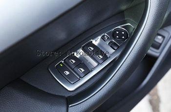 עבור BMW X1 F48 2015 2016 20i 25i 25le רכב-סטיילינג ABS מעלית חלון כרום אביזרים לקצץ כיסוי כפתור Swtich סט של 4 יחידות 16-17