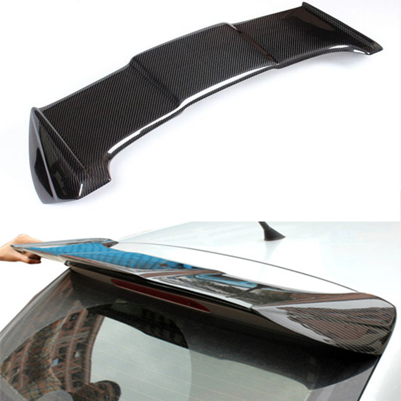 OSIR Style Carbon Fiber Roof Spoiler Wing For Volkswagen VW Polo 2011 2015