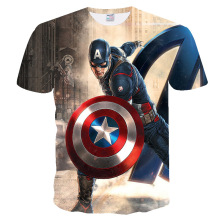 YX Girl 2019 Hot  New The Avengers 4 Alliance Summer Mens T-shirt Tee Tops 3D t-Shirts 007