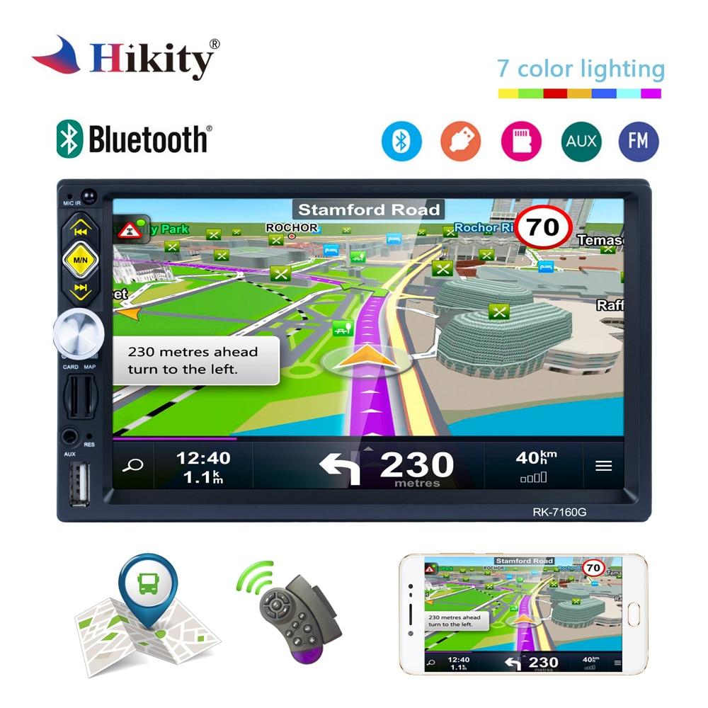 Hikity 2 din GPS De Voiture Radio 7