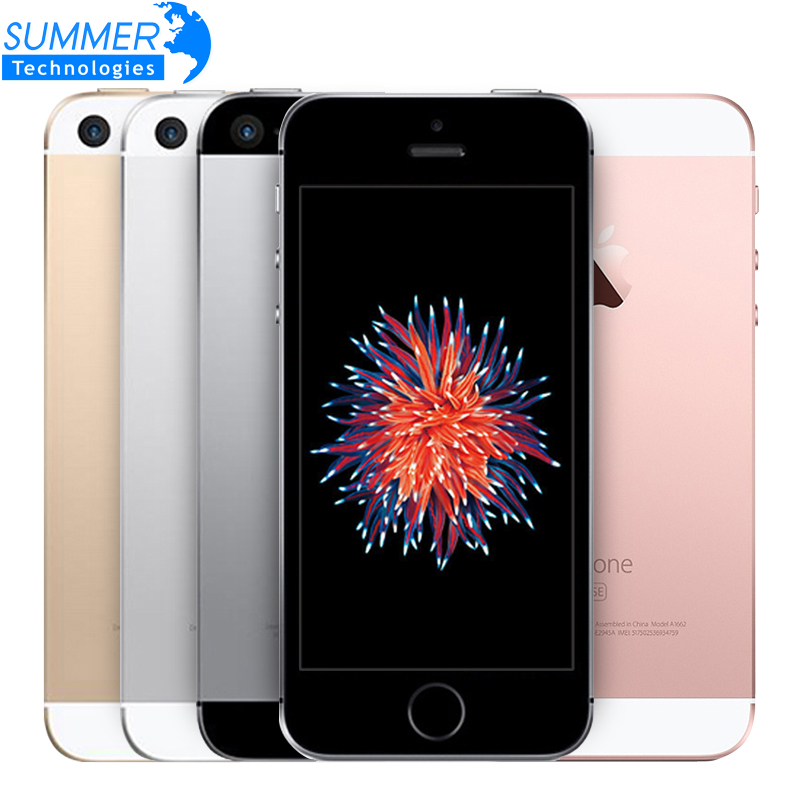Unlocked Original Apple iPhone SE Mobile Phone 4.0 A9 iOS 9 Dual Core 2GB RAM 16/64GB ROM Fingerprint 4G LTE Smartphone