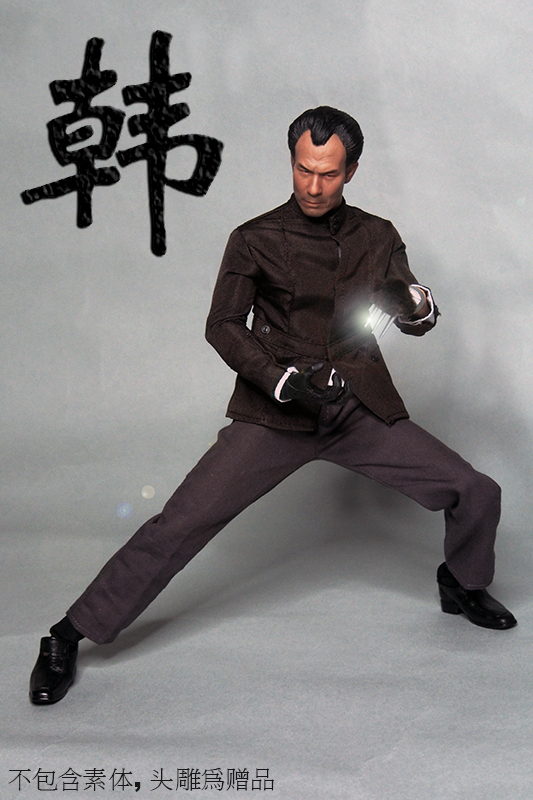 1:6 Scale Soldier Enter The Dragon Bruce Lee Opponent Mr. Han Shi Jian Clothes Set Free Head Carving 1 6 scale the game of death bruce lee head sculpt and kungfu clothes for 12 inches figures bodies