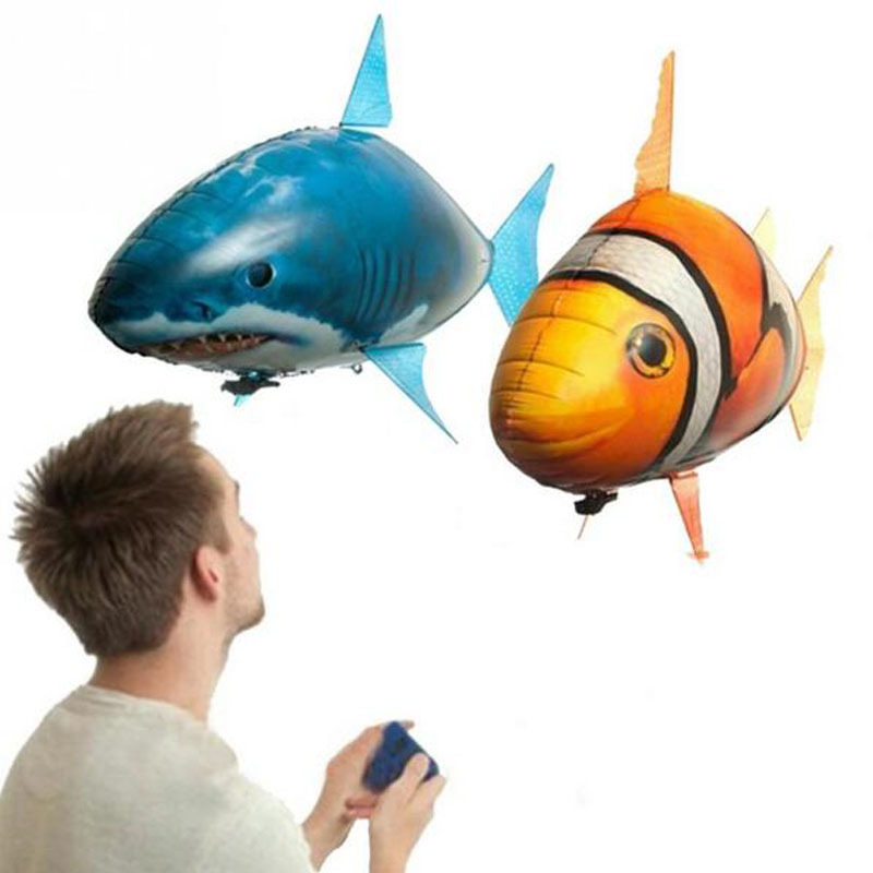 ФОТО remote control balloons flying fish shark clown fish inflatable blimp helium balloon children toys gifts wedding party surprise