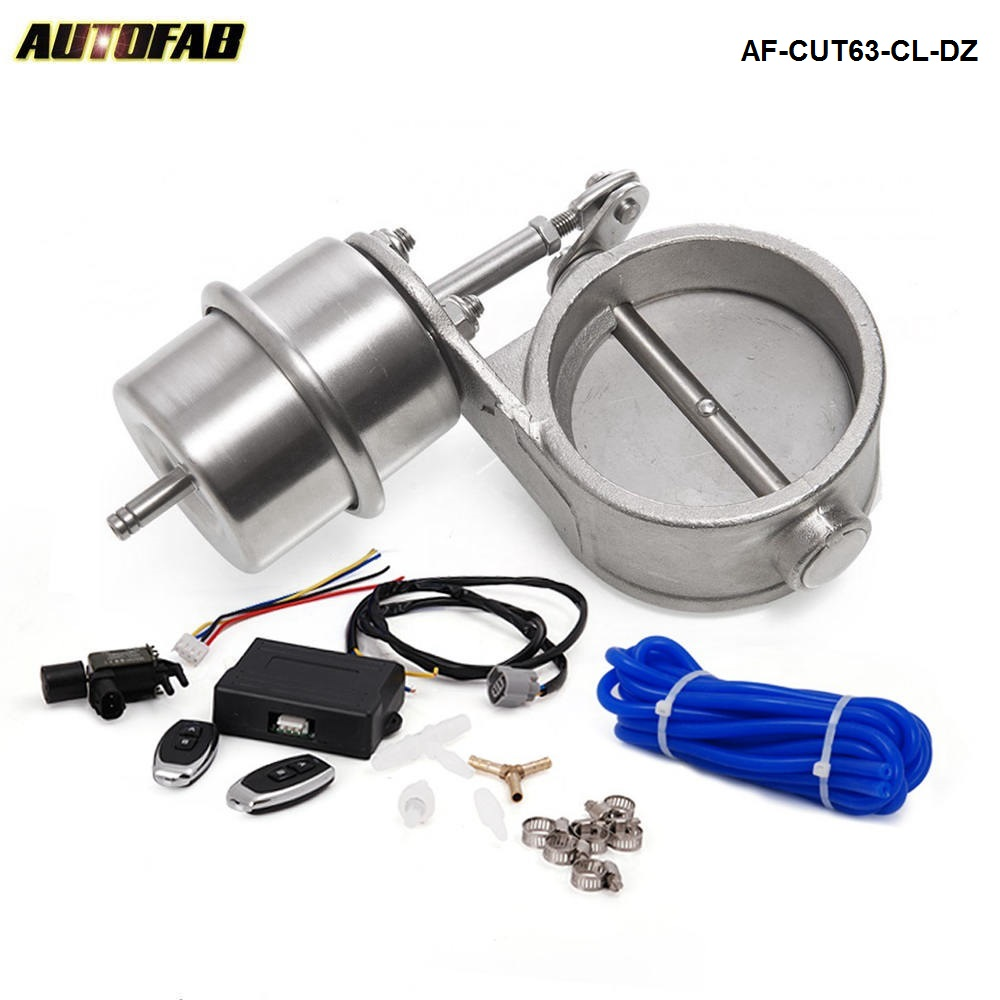2 5 63mm Closed Vacuum Exhaust Cutout Valve with Wireless Remote Controller Set AF CUT63 CL