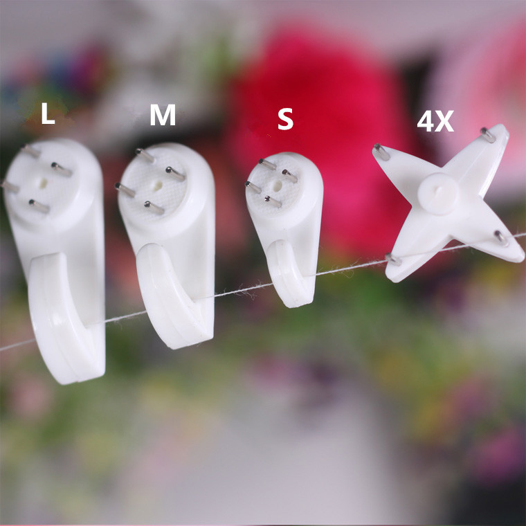100pcs= 25* (S+M+L+4X) Non-trace nail/Picture Hangers/Hook for Photo frame/Wedding photos/Clothes/Handbag/Metope adornment