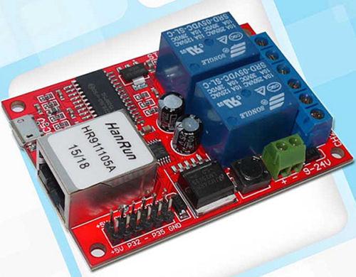 Bescheiden Lan Ethernet 2-weg Relais Bord Verzögerung Schalter Tcp/udp Controller Modul Web Server