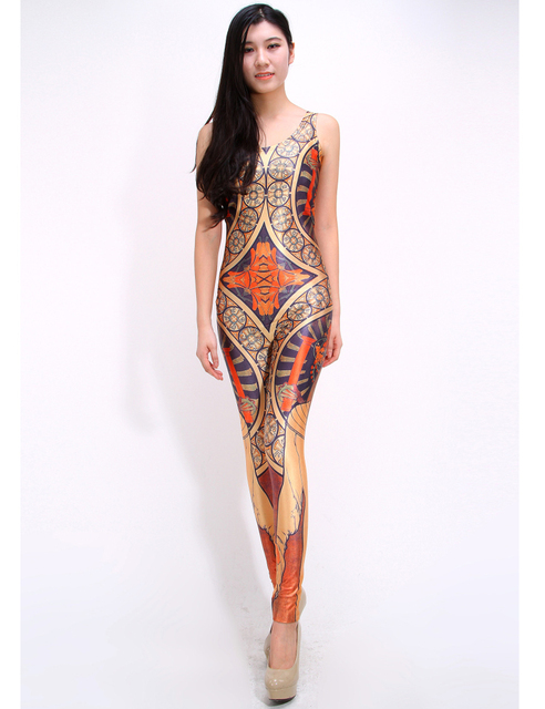 ba6af02102e Harajuku 3D Printed Beauty Sexy Women Rompers And Jumpsuits Tanks Vest O  neck Spandex Playsuits Casual