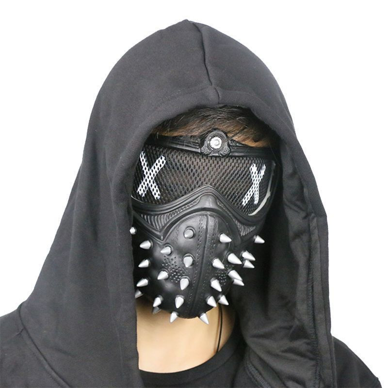 Cool Punk style <font><b>Watch</b></font> <font><b>Dogs</b></font> <font><b>2</b></font> <font><b>Mask</b></font> <font><b>Wrench</b></font> Cosplay Rivet <font><b>Masks</b></font> Halloween <font><b>mask</b></font> ACG event cosplay accessory <font><b>WATCH</b></font> <font><b>dog</b></font> fans gift cs99 image
