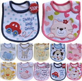 Lovely Cute Cartoon Pattern Toddler Baby Waterproof Saliva Towel Cotton Baby Boys girls Bibs 5KS01