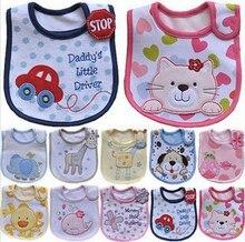 Lovely Cute Cartoon Pattern Toddler Baby Waterproof Saliva Towel Cotton Baby Boys girls Bibs 5KS01