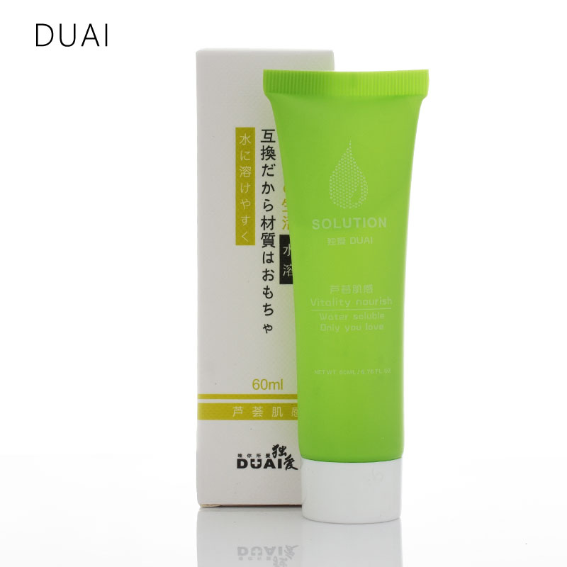 DUAI Aloe vera essence lubricant for sex 60ml Brand Anal lubrication Adult sex toys Lubricating sex Oil Grease Causative womanDUAI Aloe vera essence lubricant for sex 60ml Brand Anal lubrication Adult sex toys Lubricating sex Oil Grease Causative woman