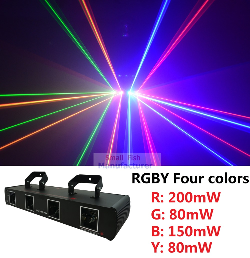 Factory Price High Quality 4 Lens 510mW RGBY DMX Laser Projector Professional Disco DJ Stage Party Lighting Equipments high quality southern laser cast line instrument marking device 4lines ml313 the laser level