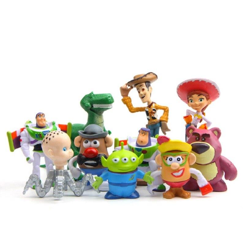 Aliexpress.com  Comprar 10 unids lote 3 8 cm Toy Story 3 Woody Buzz  Lightyear Jesse PVC Action Figure Toys muñecas niños regalos de toy story 3  fiable ... 5283f7db1c3