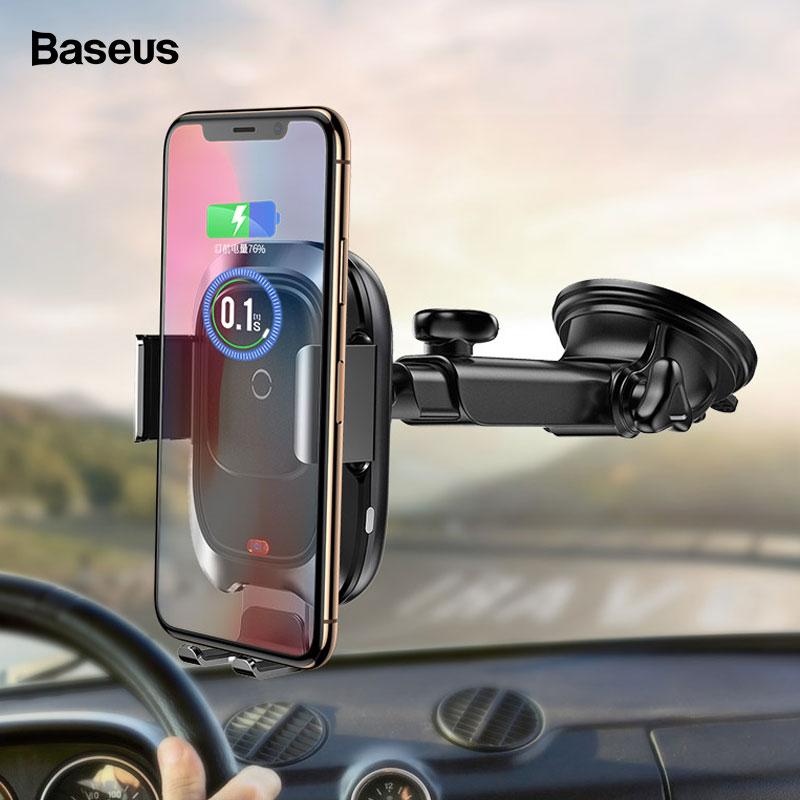 Kabellose Ladegeräte Baseus Qi Drahtlose Auto Ladegerät Für Iphone Xs Max X 10 W Schnelle Auto Drahtlose Lade Halter Für Xiao Mi Mi 9 Mi X 3 2 S Samsung S10 S9