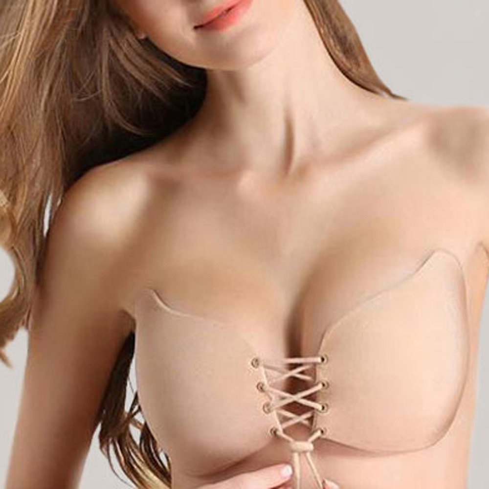 2019 News Women Sexy Strapless Instant Breast Lift Invisible Silicone Push Up Bra Lingerie Porno Multiple Colour Opaque Back