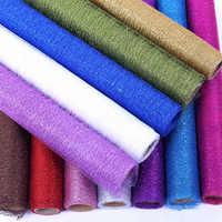 50 cm * 5Y fil d'or tissu Tulle rouleau bobine artisanat fête de mariage décoration Bouquet Wrap Organza pure gaze élément chemin de Table
