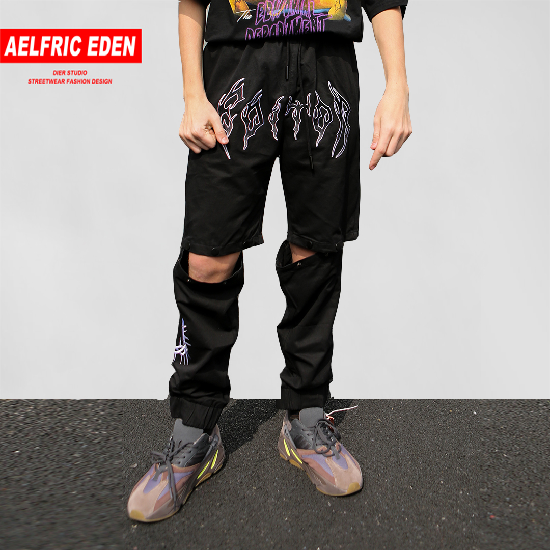 Trousers Aelfric Eden Gothic Joggers-Letter Casual-Pants Hip-Hop 2-Wear-Style Summer