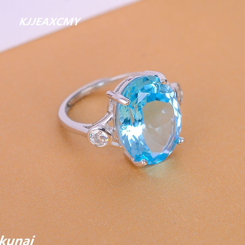 KJJEAXCMY Colorful jewelry Multicolored jewelry 925 silver inlay natural blue topaz ring simple wholesale female models рюкзак madpax rex 2 half light blue multicolored kab24485083 225874