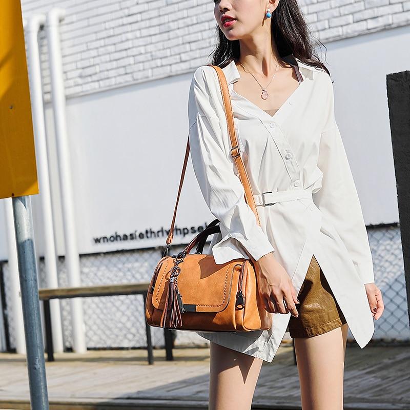 2018 PU sacs à bandoulière petites femmes sacs à main marque de mode Messenger sacs solide couverture sac à bandoulière fourre-tout sac à main - 2