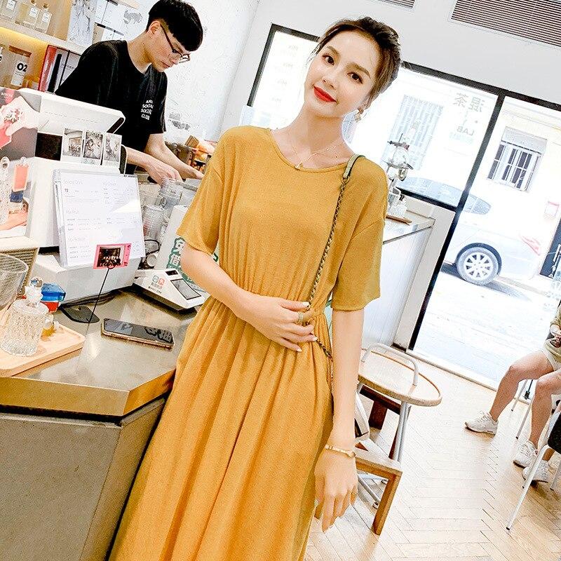 2019 섹시한 여성 여름 드레스 짧은 소매 솔리드 슬림 파티 드레스 캐주얼 드레스 프로모션에-에서드레스부터 여성 의류 의  그룹 1