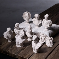 10pcs/set Resin Plaster Model Statue 5~8cm Venus Ares Figures Head Sculpture Sketch Painting Practice Home Decor Craft Ornaments