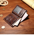 New Men Wallet Wax oil skin Wallets Fashion Purse Card hand bag