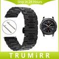 22mm de acero inoxidable venda de reloj de la correa de liberación rápida para samsung gear s3 classic/frontera mariposa hebilla de cinturón de pulsera de la muñeca