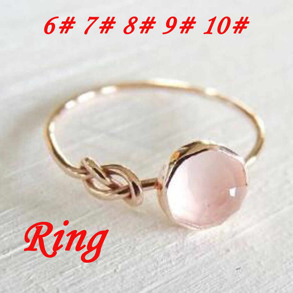 Anillo de novia con gemas naturales para mujer, anillo de bodas, regalos de cumpleaños preciosos, joyas Anillos, adornos anesis