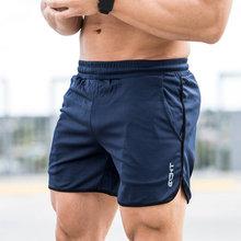 Спортивные шорты для бега, мужские повседневные короткие штаны, мужские летние дышащие сетчатые крутые Бермуды для тренажерного зала, фитнеса, бодибилдинга, пляжные шорты