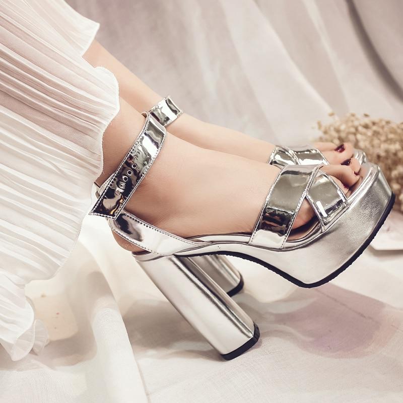 ФОТО LANYUXUAN Time-limited Real Fashion  Feminino  Big Size 34- 43 Sandals Ladies Lady Fashion Shoes High Heel Women Pumps W153-6