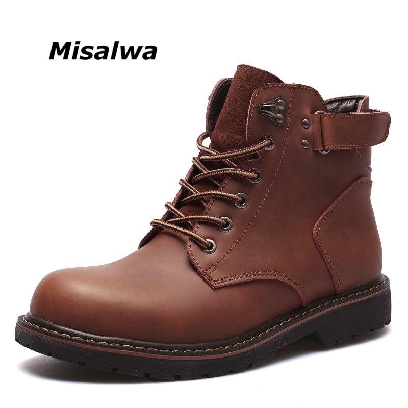 Misalwa 2018 Nouveau Mode Casual Hommes Bottes de Haute Qualité Printemps Automne Hiver Hommes Bottes de Neige Cheville Bottes de Travail boot