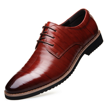Dropshipping Black Lace Up Men Genuine Leather Men Wedding Brogue Formal Dress Shoes Party Office Brown Oxford Shoes DB0114 northmarch italian lace up men genuine leather men wedding brogue formal dress business party office black oxford shoes scarpe