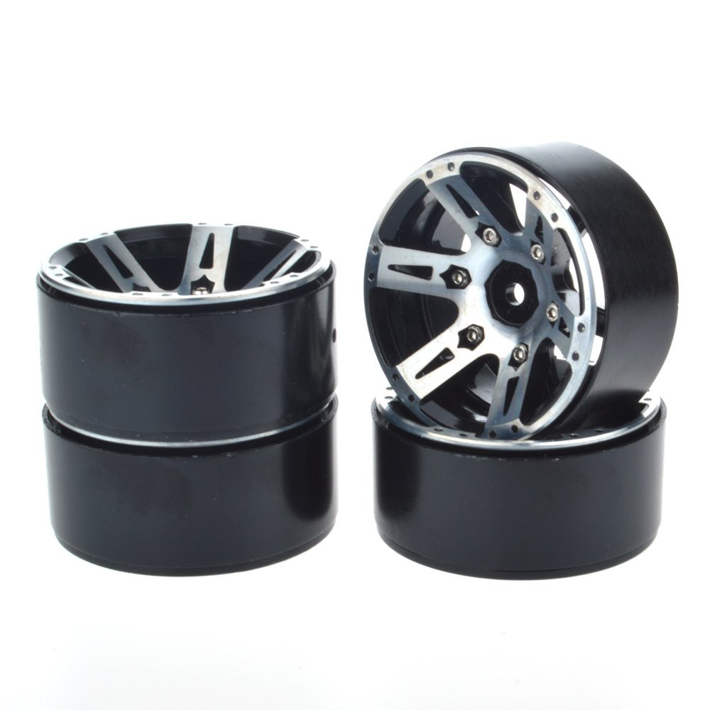 4pcs RC Rock Crawler 1/10 scale 1.9 Beadlock Alloy Wheels Rims For RC4WD SCX10 CC01 D90 2 2inch wheel rims for wraith rc4wd 8 spoke alloy beadlock 1 10 crawler car 2 2 wraith wheels high quality