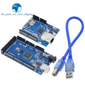 Image 1 - TZT UNO Ethernet W5100 network expansion board SD card Shield for arduino with Mega 2560 R3 Mega2560 REV3