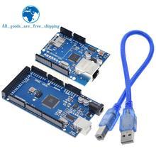 TZT UNO 이더넷 W5100 네트워크 확장 보드 메가 2560 r3이 장착 된 arduino 용 SD 카드 실드 Mega2560 REV3