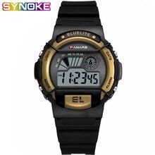 PANARS Mens Digital Watch Fitness Sport Luminous Men Wrist Clock 5 Bar Waterproof Gold Black Color Hot Sale