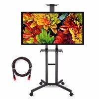 Suptek Universal TV Warenkorb Für LCD LED Plasma Panel Stand Berg Mit Rädern Mobile Und 2 Einstellbare Regale Für 32 -60 ''ML5073