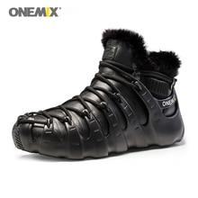 Купить с кэшбэком Onemix winter boots for men shoes Trekking shoes Anti Slip Shoes for women outdoor trekking shoe sneakers winter warm keeping