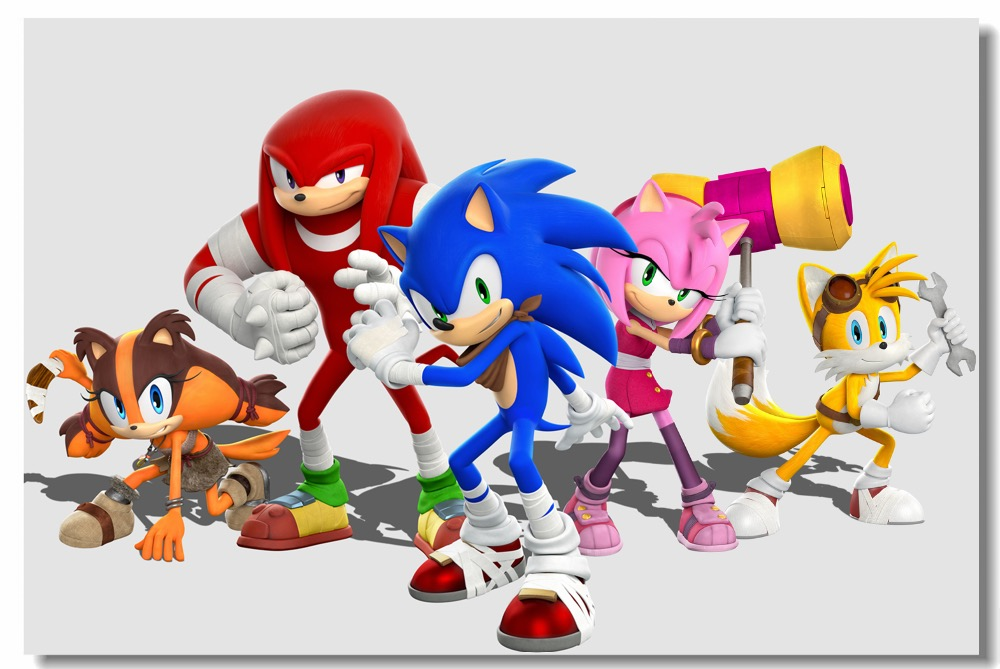 Custom Canvas Wall Decal Sonic The Hedgehog Poster Super Smash Bros Wallpaper Sonic Decoration Kids Bedroom Sticker Mural 0463 Wall Stickers Aliexpress